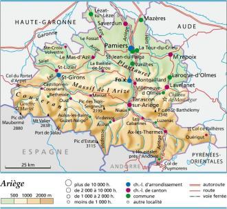 Carte plan et itin raire d partement ari ge 09 - Office du tourisme de tarascon sur ariege ...
