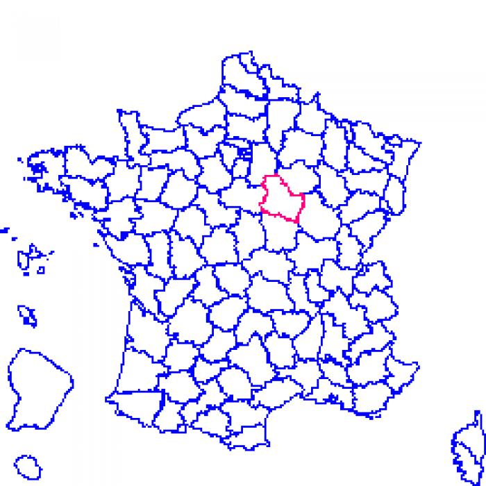 Carte plan et itin raire d partement yonne 89 for Plan de sens dans l yonne