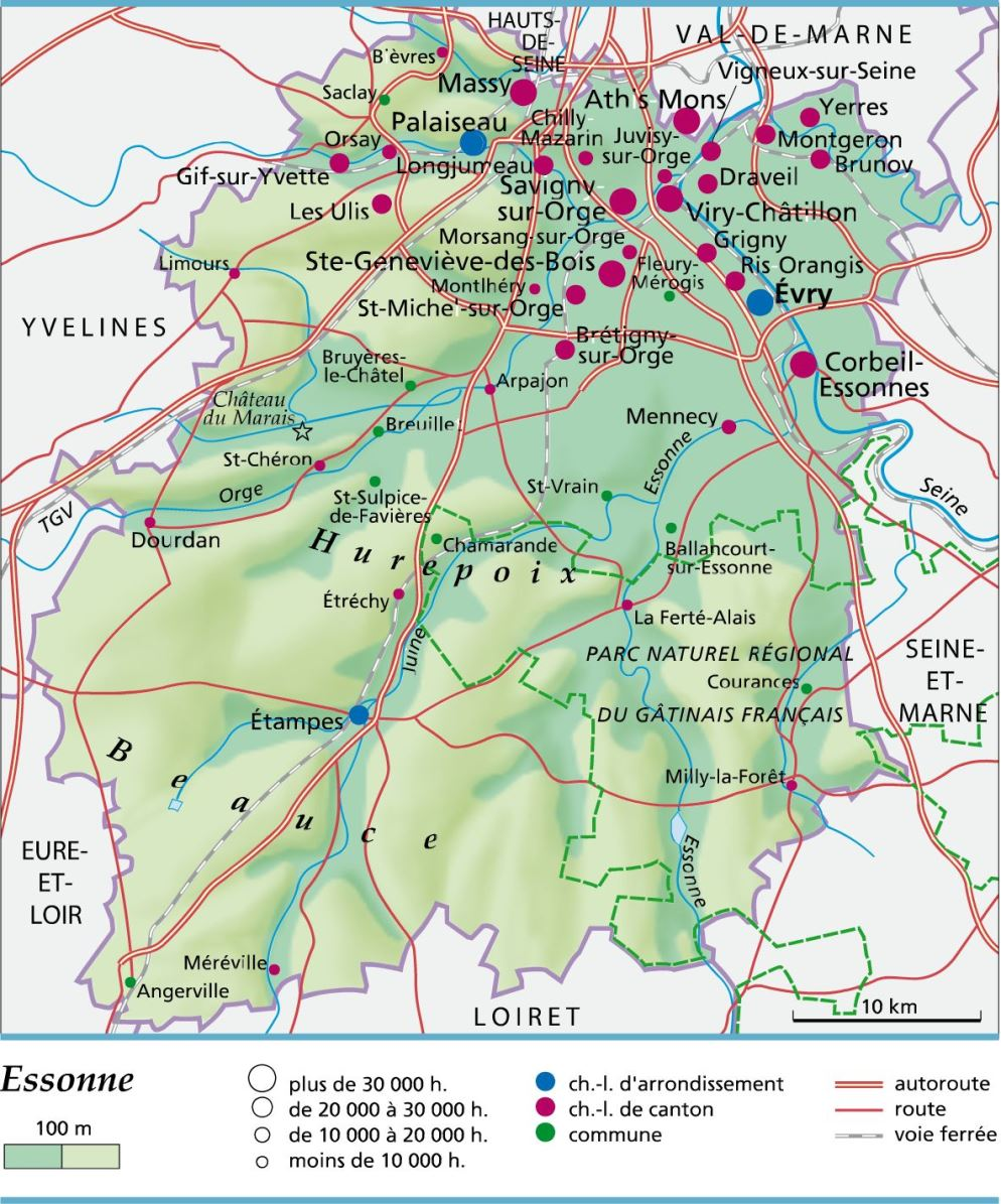 Info essonne plan voyages cartes for Recherche jardinier essonne