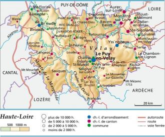 Departement Haute Loire Carte.Carte Plan Et Itineraire Departement Haute Loire 43