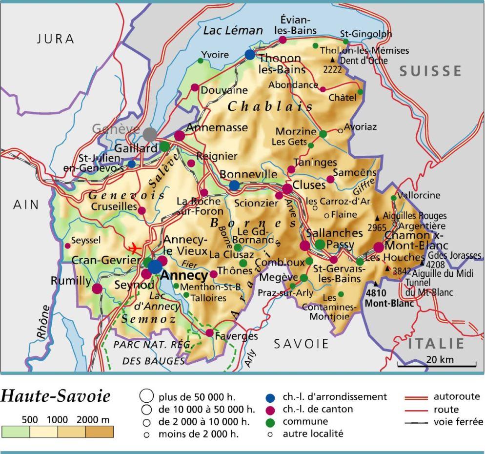 Carte et plan du d partement de la haute savoie - Chambre des notaires haute savoie ...