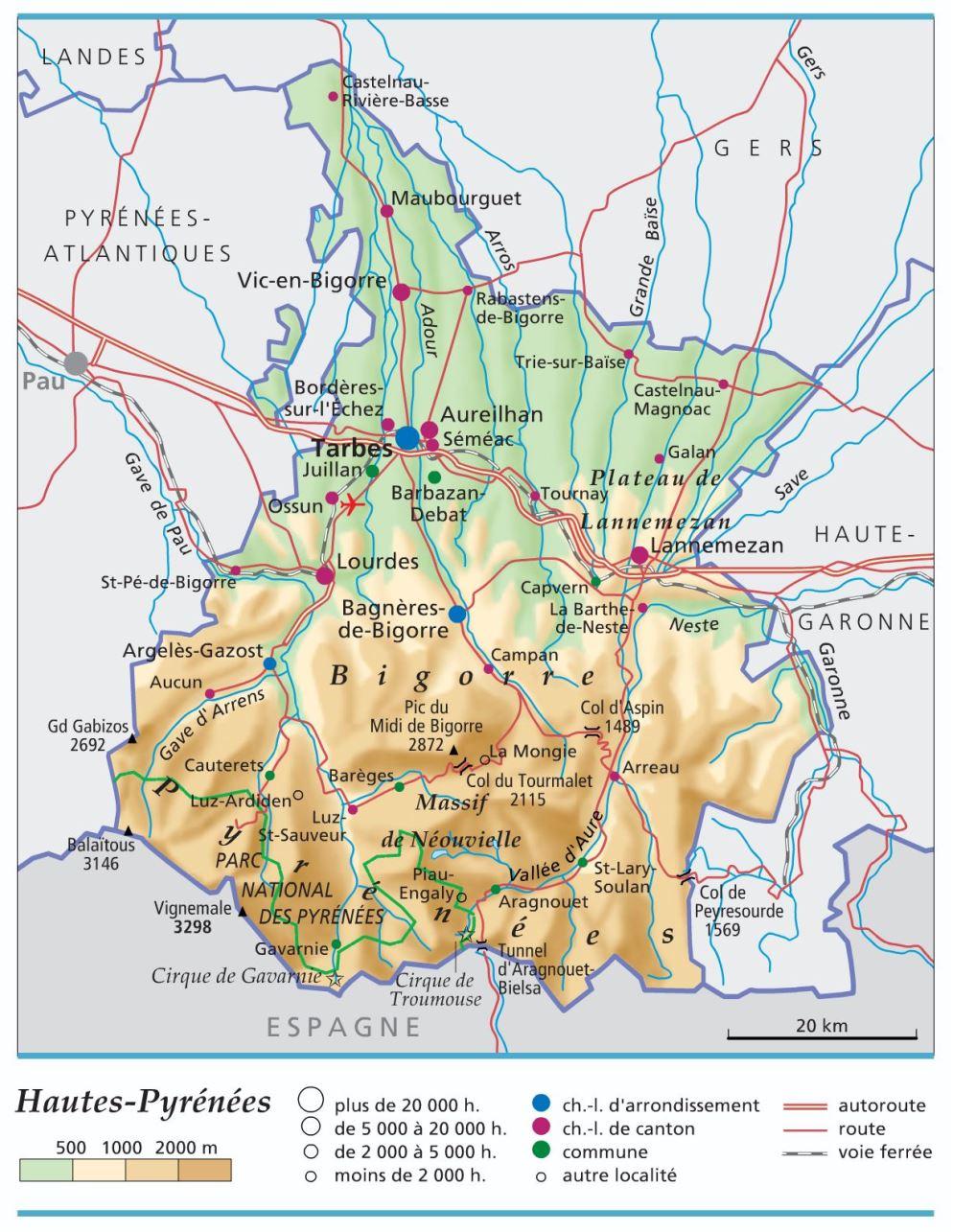 hautes pyrenees departement 65