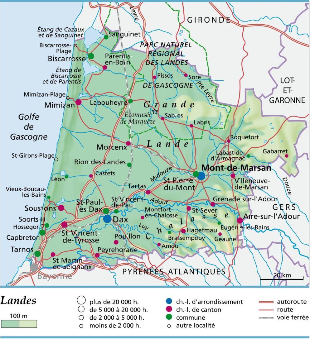 Plan De La Ville De Soustons