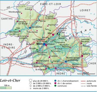 Carte plan et itin raire d partement loir et cher 41 - Office du tourisme loir et cher ...