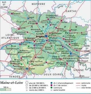 Carte Plan Et Itinéraire Département Maine Et Loire 49