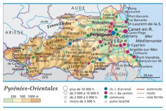 pyrenees orientales departement 66 carte de france